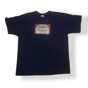 Vintage Budweiser Label Box Short Sleeve Tee XXL